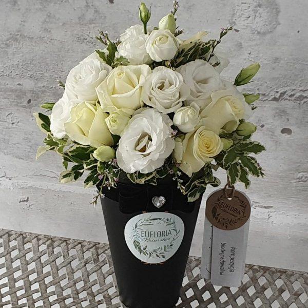 EKO Flower box – kwiaty cięte w czarnym pudełku – FB 8