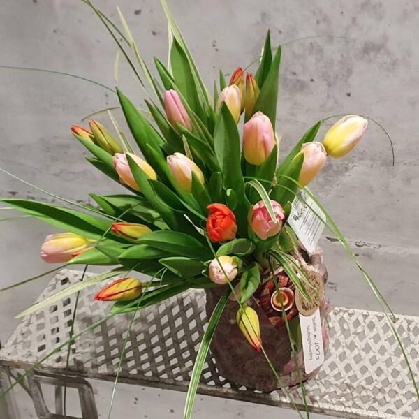 EKO kreator bukietu tulipanów (25-100 tulipanów)