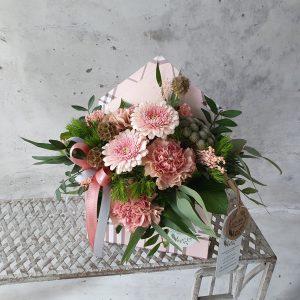 """EKO Flower box z kwiatów ciętych """"koperta"""" – FB 7"""