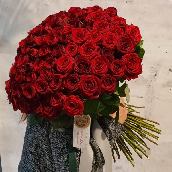 EKO bukiet 100 róż – MEGA PROMOCJA